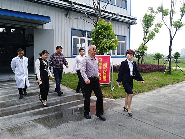 河南省科技投资股份有限公司董事长何毅敏来访